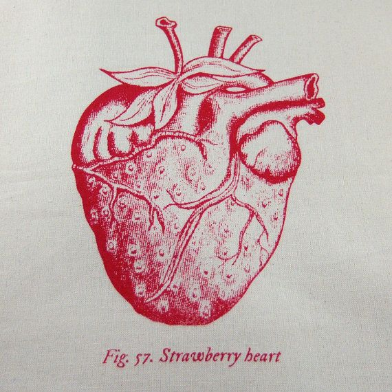 clip transparent download Drawing strawberries heart. Anatomical strawberry tote bag