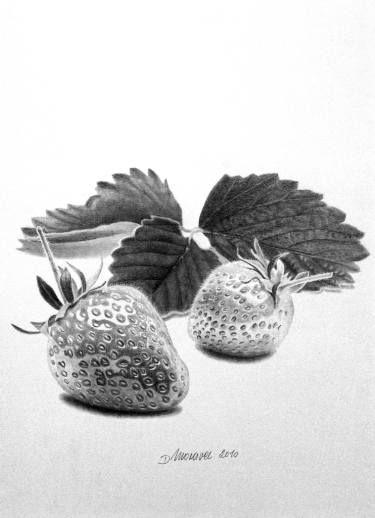 clip art royalty free download Drawing strawberries ink. Saatchi art artist dietrich