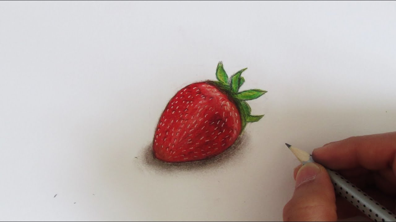 banner free library Strawberry speed . Drawing strawberries realistic