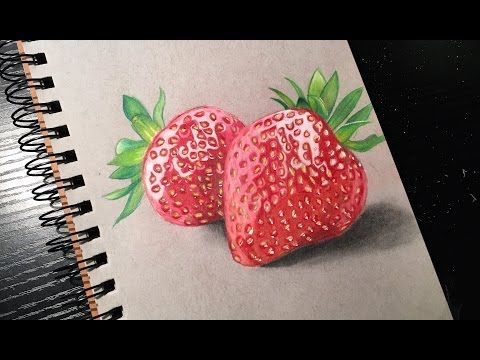 banner free download  prismacolor pencils time. Drawing strawberries realistic