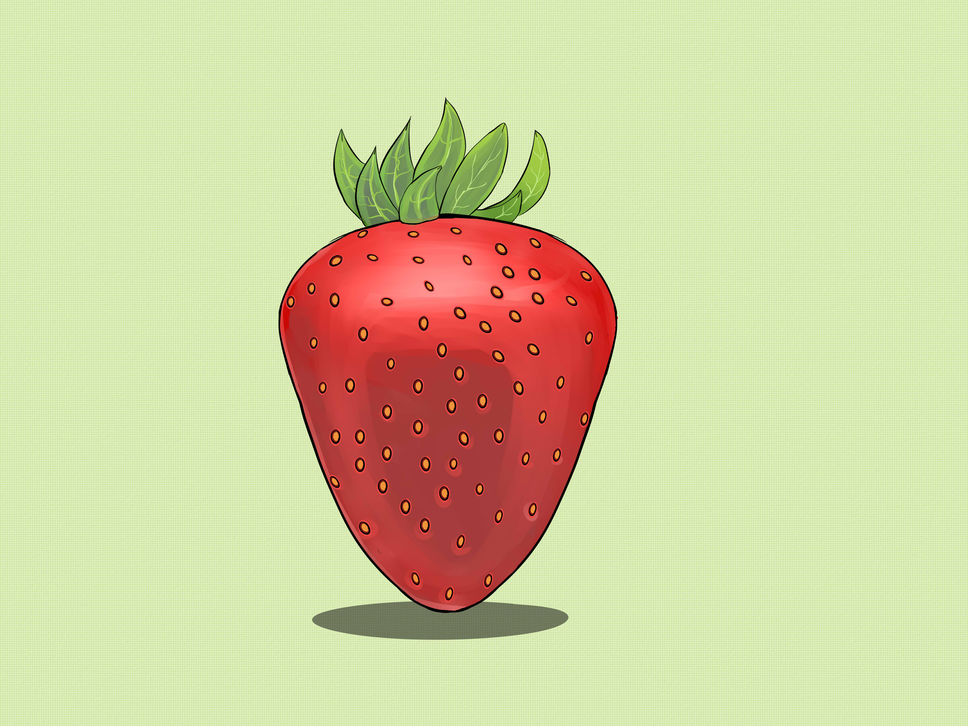 svg free Drawing strawberries stawberry. How to draw steps