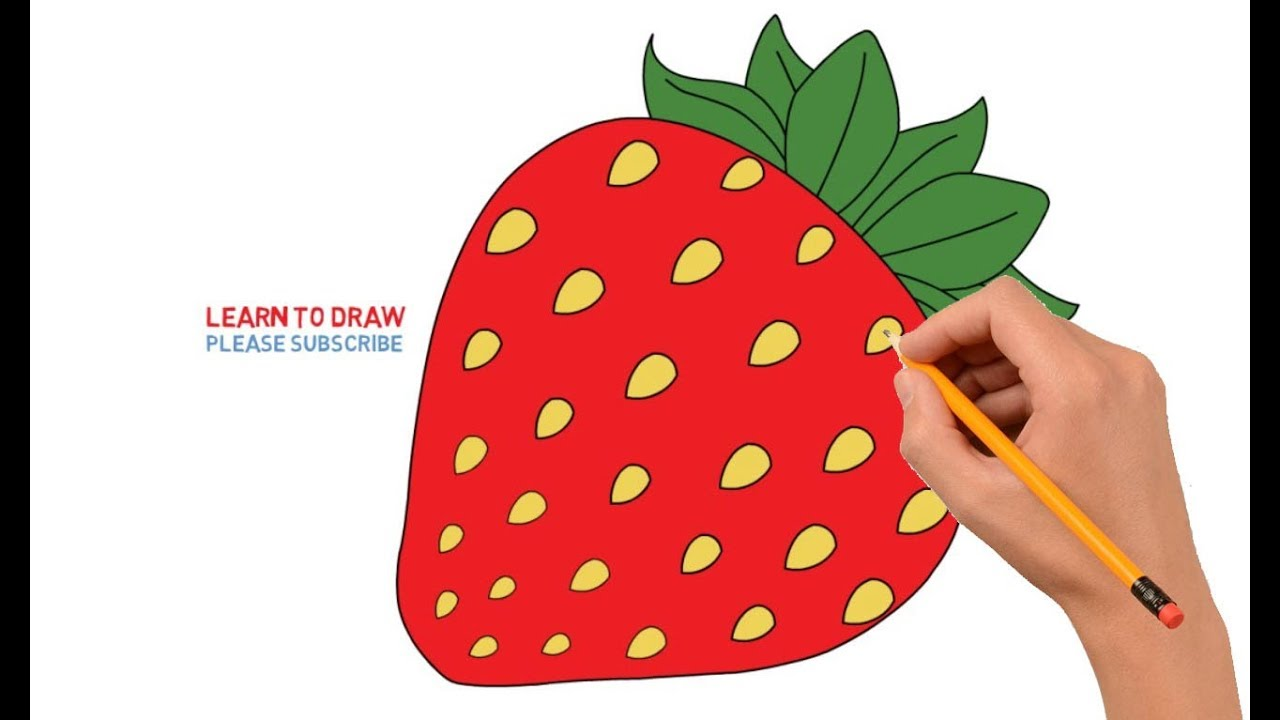 graphic freeuse library Drawing strawberries step by. How to draw strawberry