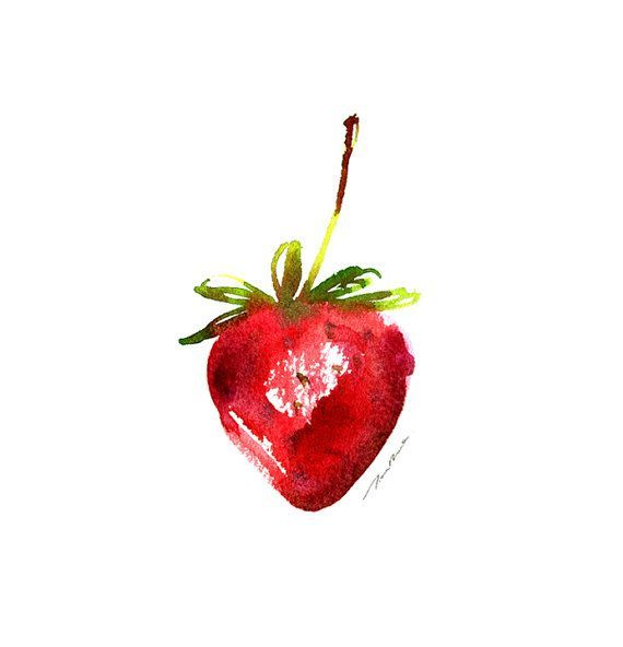 clip transparent download Drawing strawberries watercolor. Strawberry in fruit painting