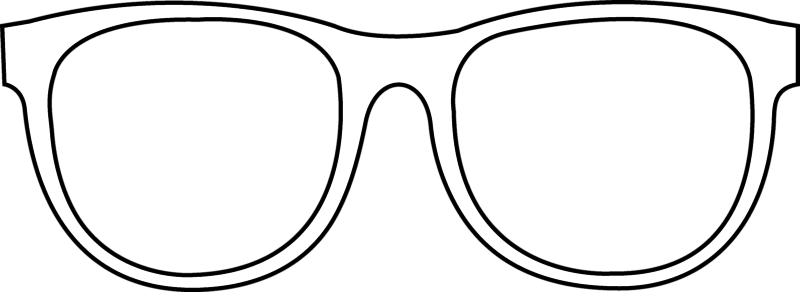 banner transparent ray ban sunglasses outline