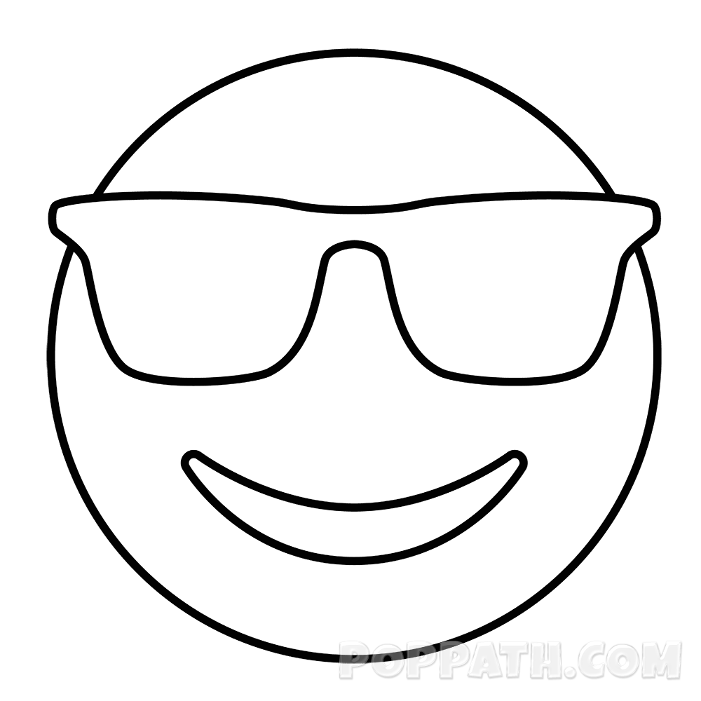 image free library How To Draw A Sunglasses Emoji