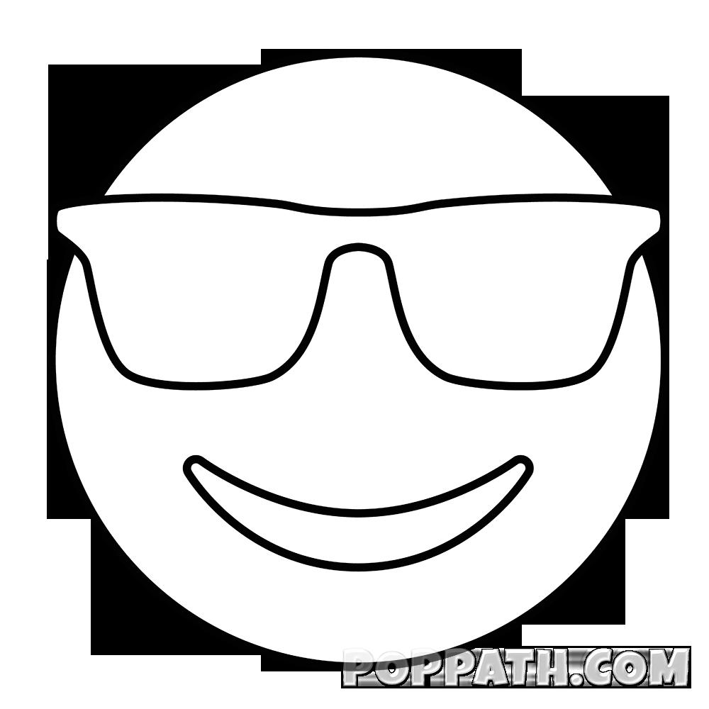 clip art transparent How To Draw A Sunglasses Emoji