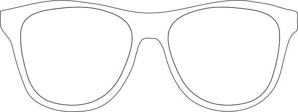 free stock Printable Glasses Template