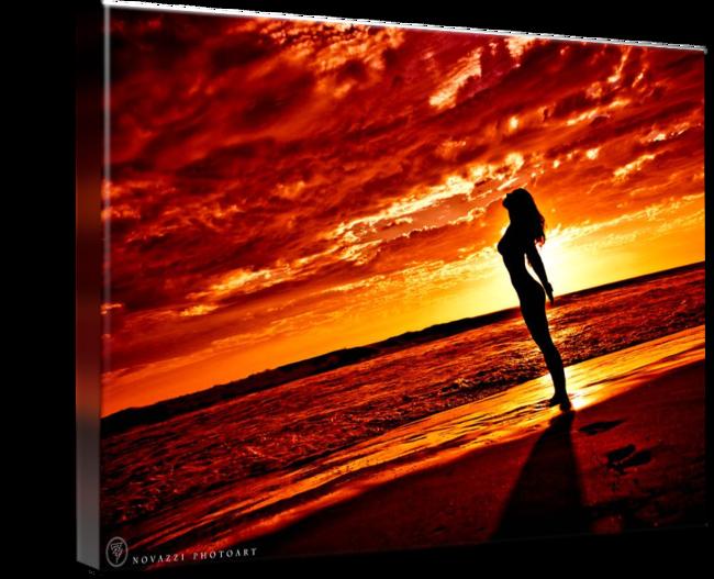 jpg transparent Woman Red Sunset Silhouette w Sun