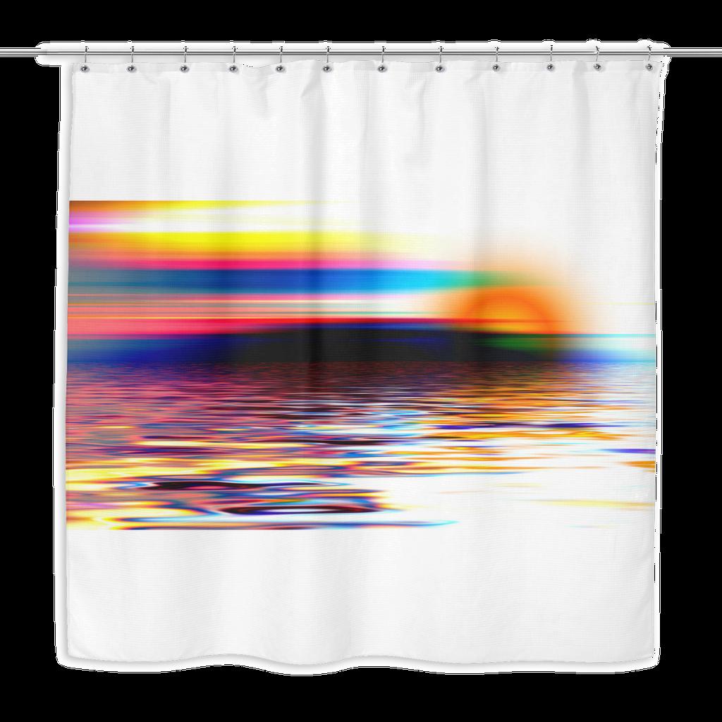 clip art transparent stock Colorful Sunset Shower Curtain