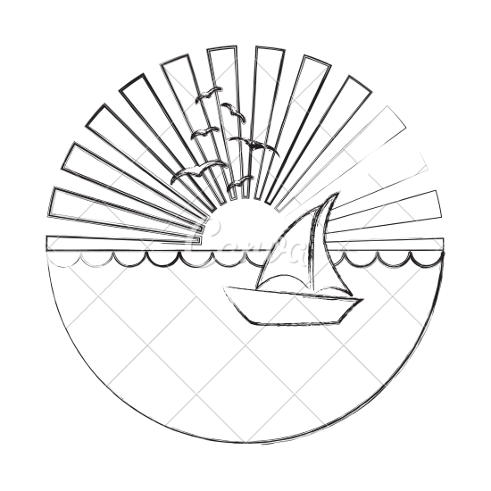 vector library Sunset Drawing Images at GetDrawings