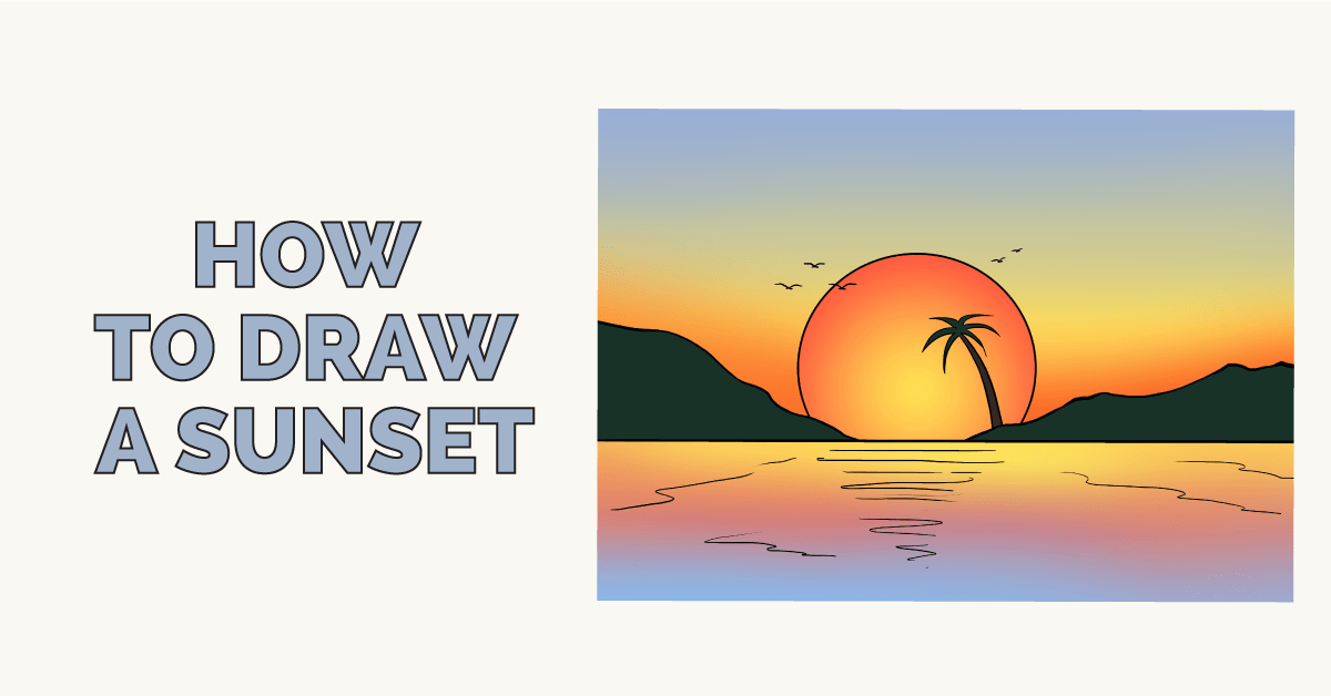 clip black and white download How to draw a. Drawing reflections sunset