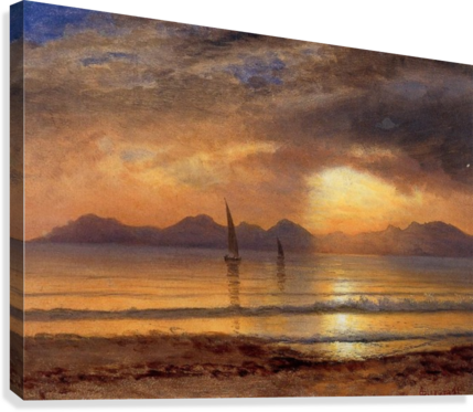 picture library Sunset Over a Mountain Lake