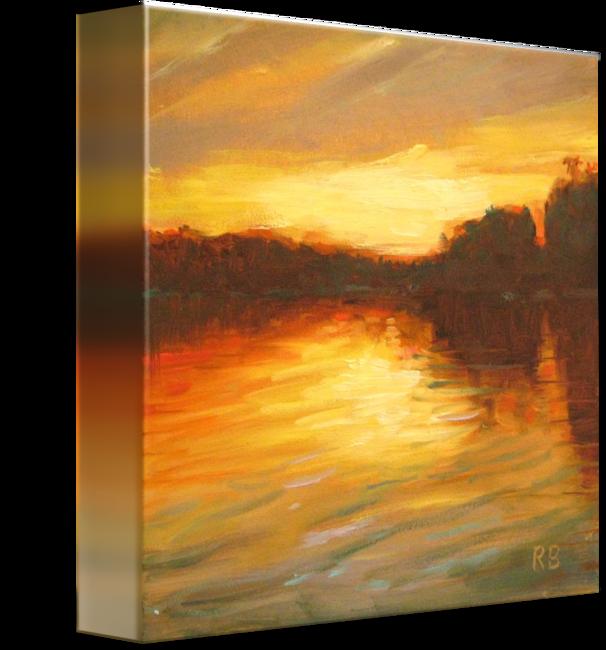 jpg freeuse library Golden Sunset by Robie Benve