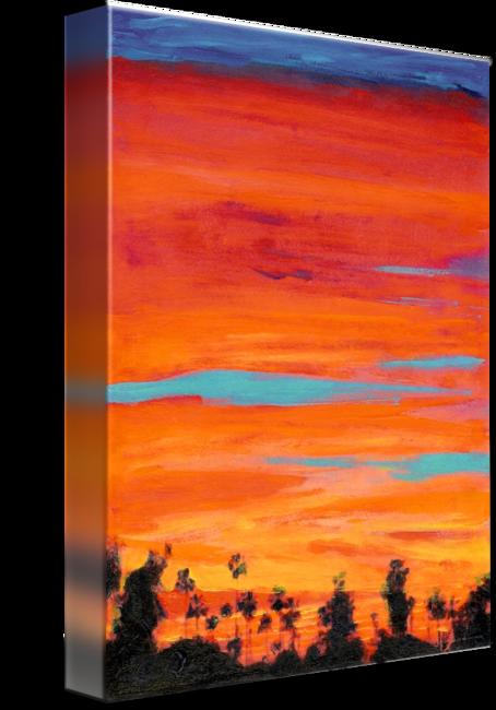 jpg freeuse Arizona Street Sunset San Diego California by RD Riccoboni