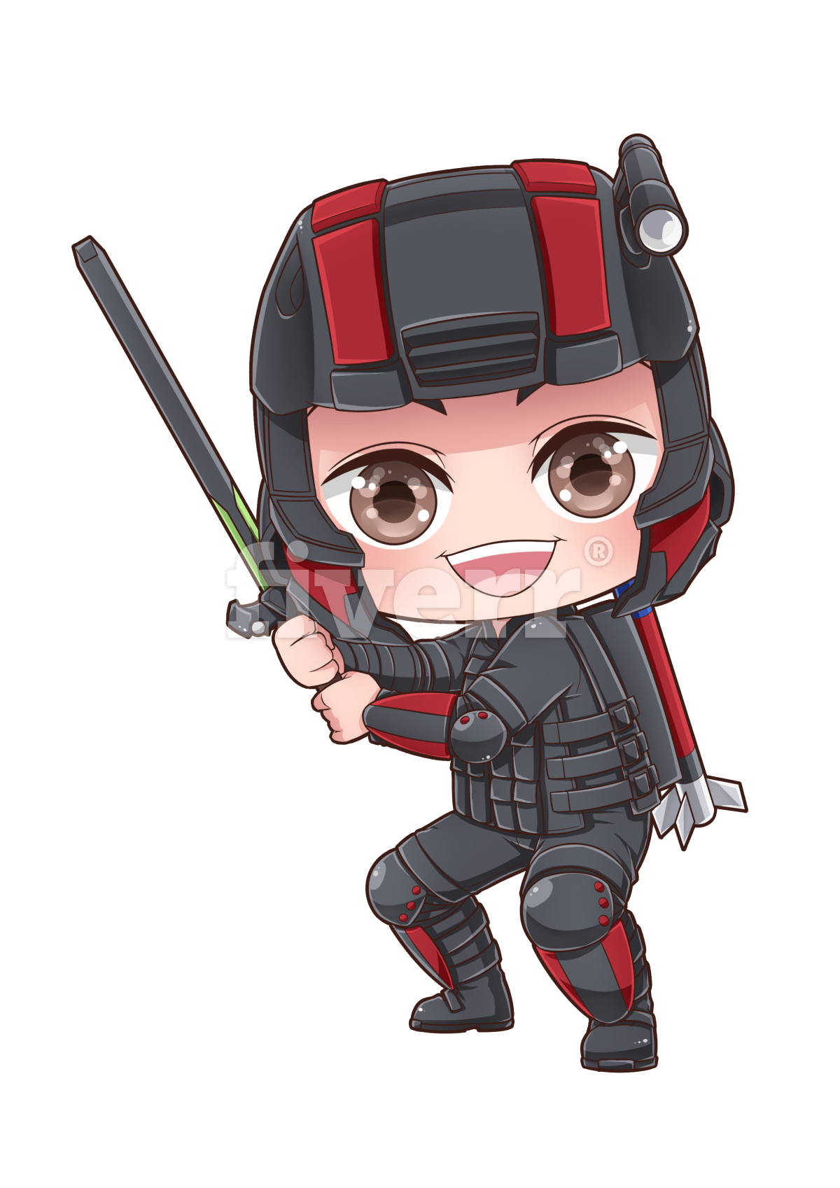 picture library Draw you as a superhero chibi by Tessacreative
