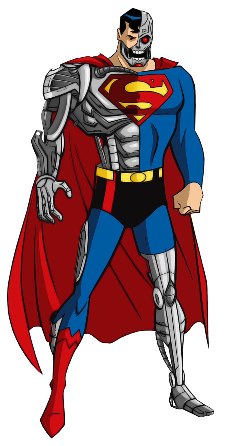 image transparent download Drawing superman cyborg. The by alexbadass on