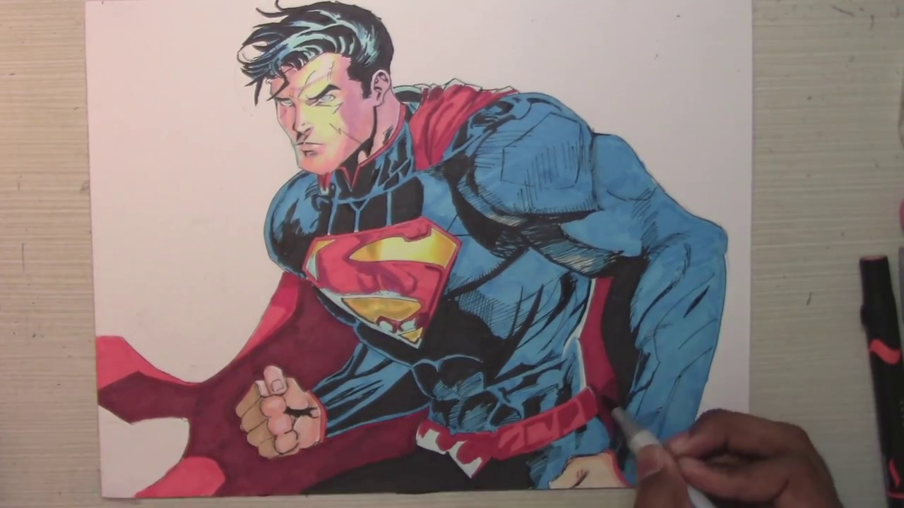free library Drawing superman epic. How to draw an