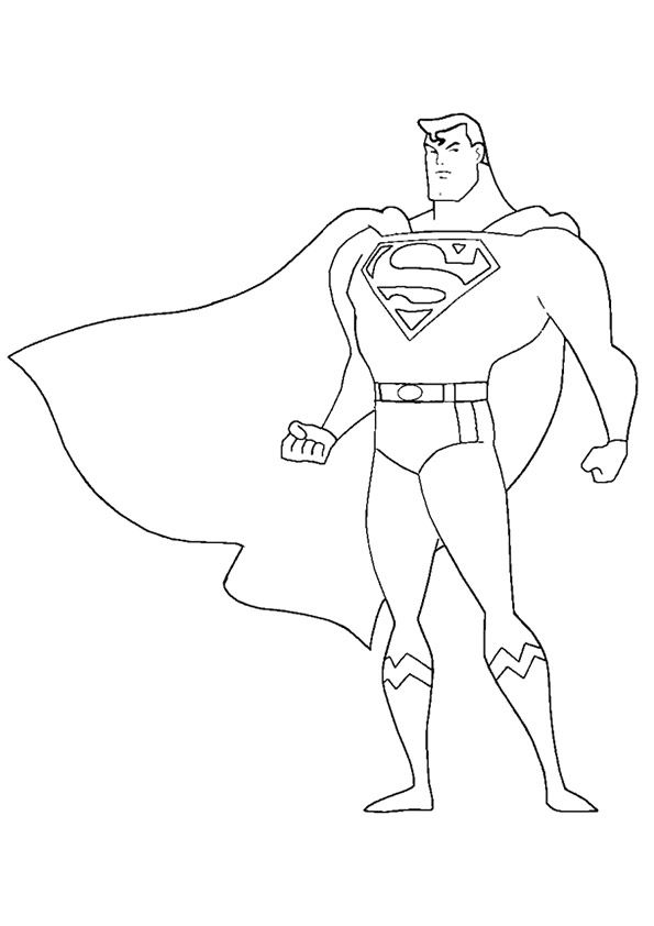 jpg stock  coloring pages your. Drawing superman simple