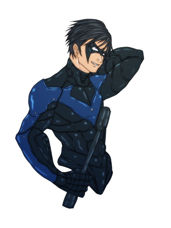banner royalty free library Nightwing Arkham City by nursury