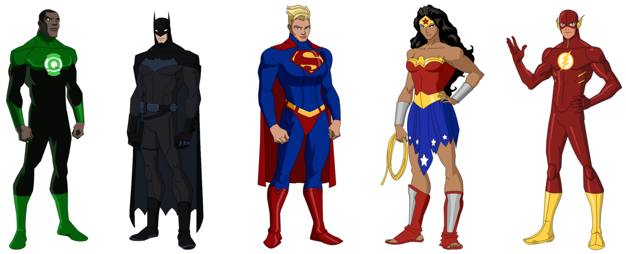 picture freeuse library Drawing superman animated. Justice league by ynot