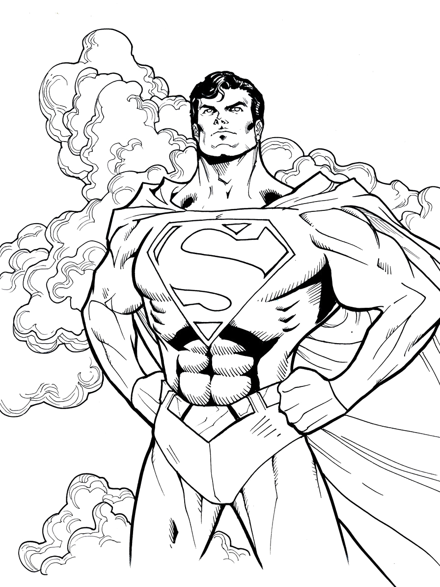 svg download Superman Cool Coloring Pages