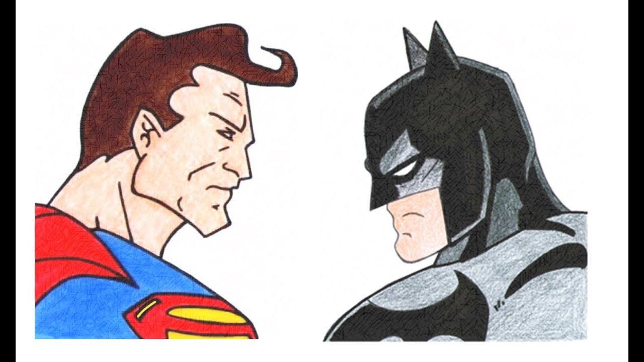 jpg freeuse stock How to draw v. Drawing superman batman vs