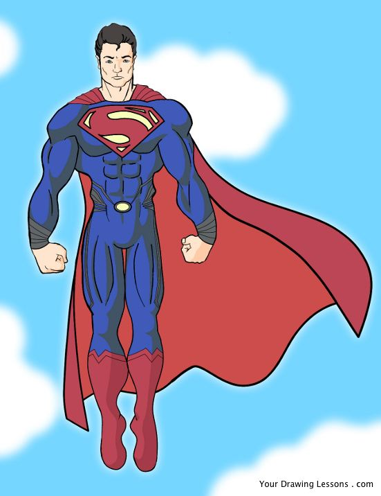 clipart black and white Drawing superman beginner. How to draw your