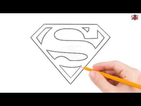 graphic freeuse download Drawing superman beginner. How to draw logo