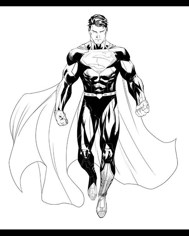 picture royalty free download Pin by karen soon. Drawing superman comic