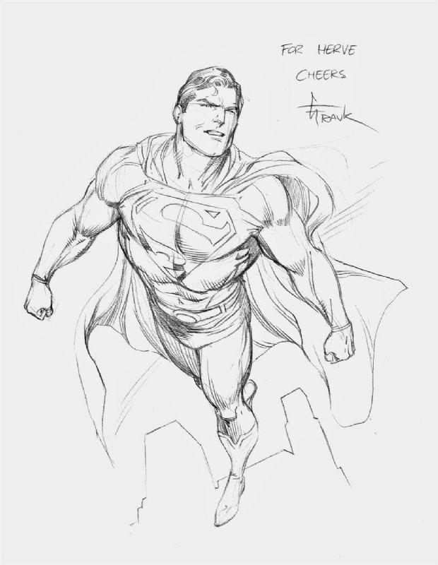 clip transparent stock Gary frank . Drawing superman comic art