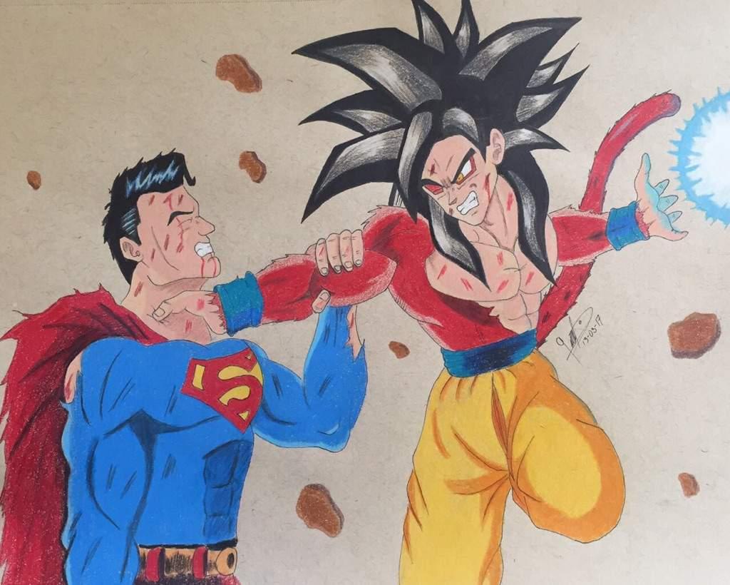 clip transparent Goku vs dragonballz amino. Drawing superman epic