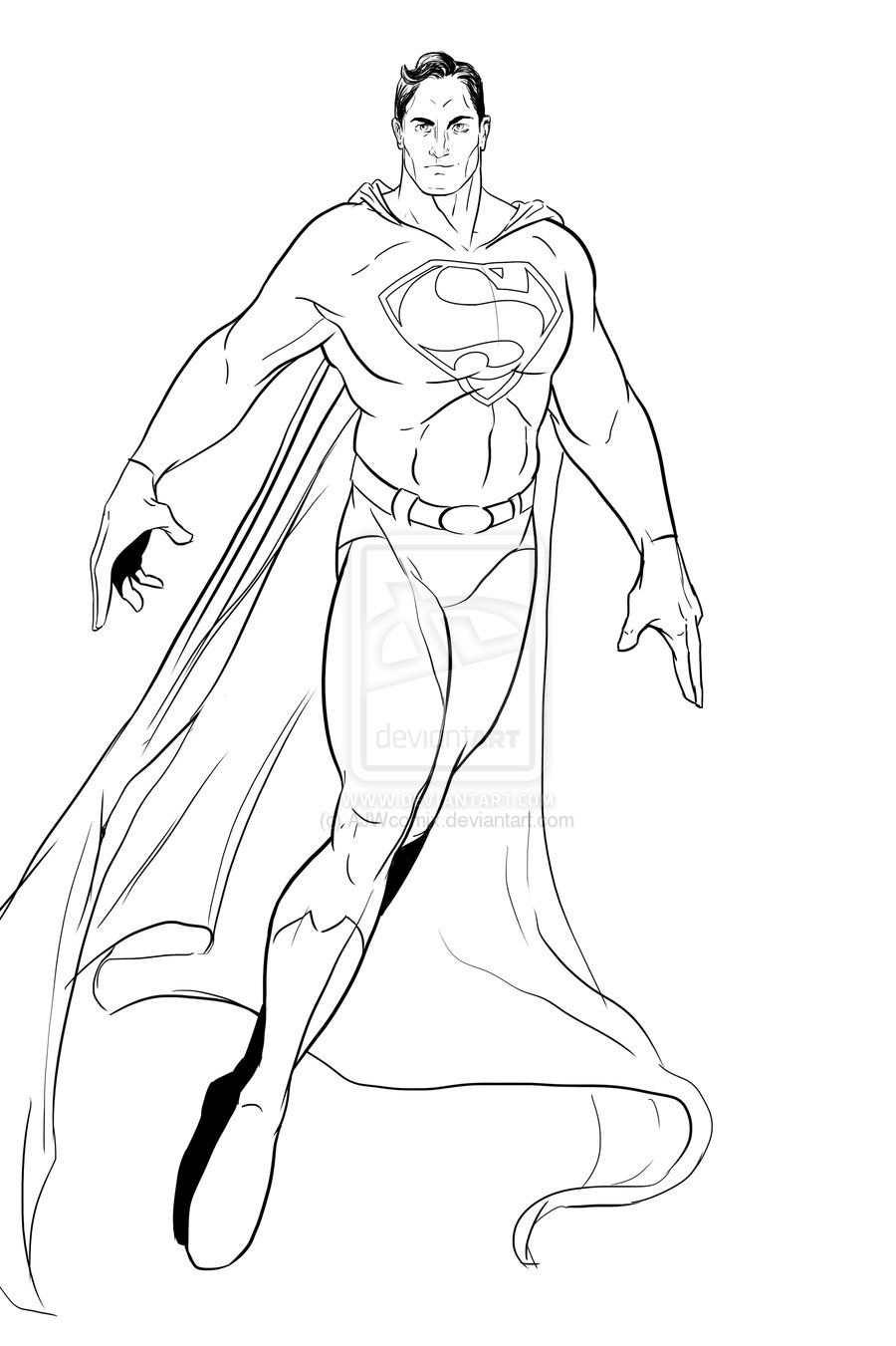 clipart freeuse stock Art by ajwcomix deviantart. Drawing superman line