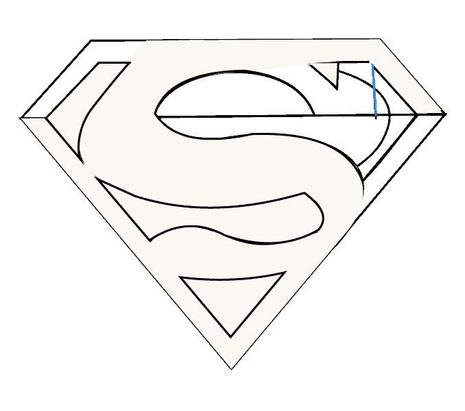 clipart Drawing superman pop art. How to draw logo