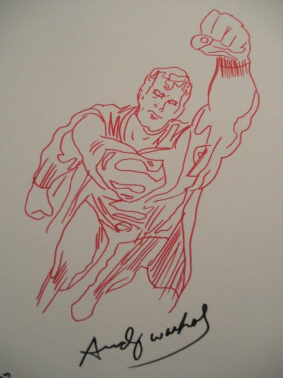 clip free stock Drawing superman pop art. Andy warhol original not