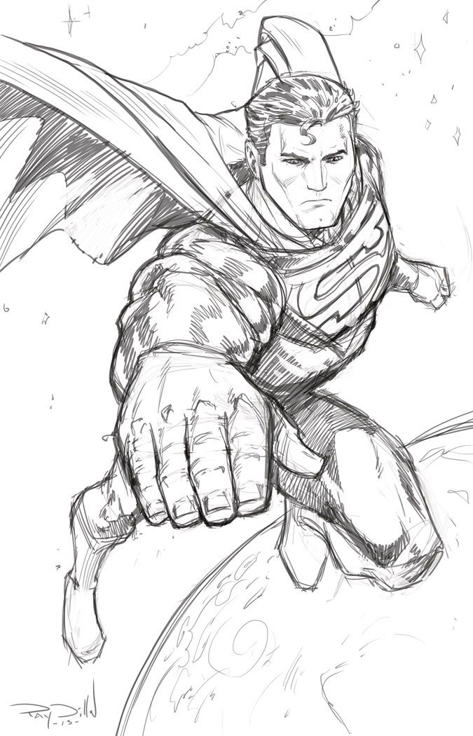 graphic freeuse stock Drawing superman sketch. Coloring pages pictures photos