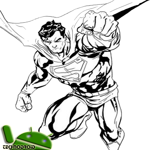 clipart library stock Drawing superman sketch. Technique of the best