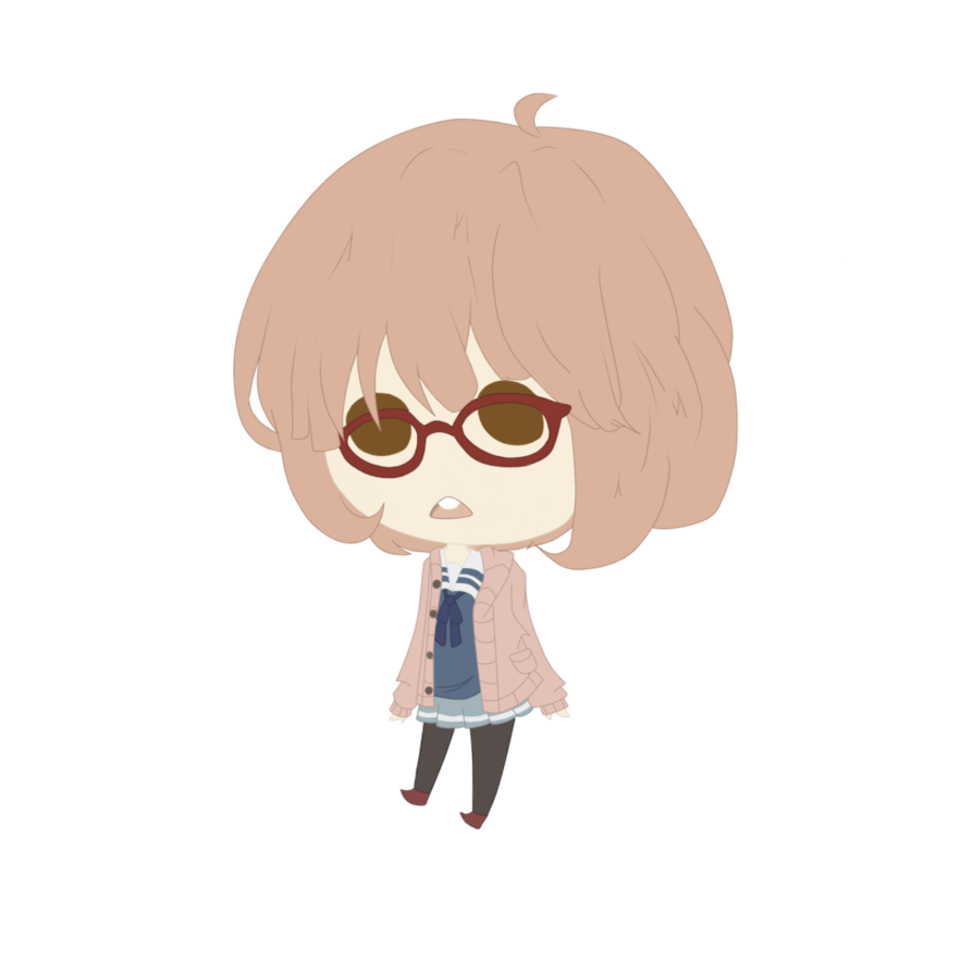 clipart royalty free stock Drawing sweaters chibi. Mirai kuriyama by wool