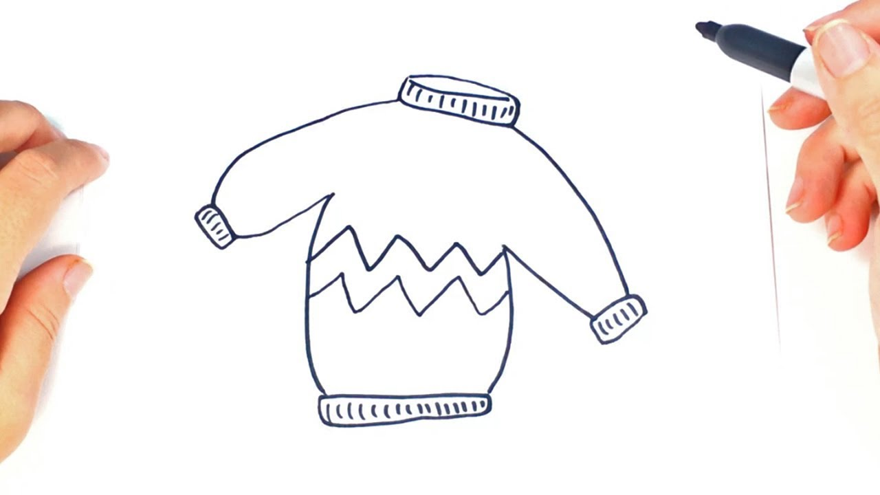 clipart free Drawing sweaters easy. How to draw a