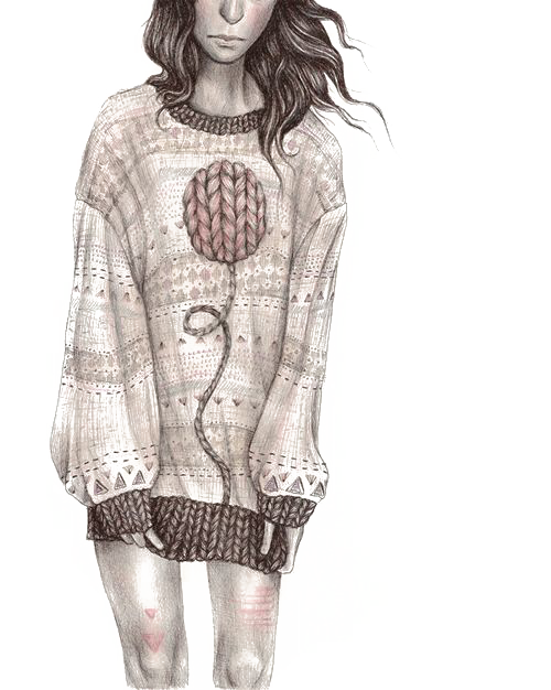 clip library download Sweater art illustration short. Drawing sweaters fashion