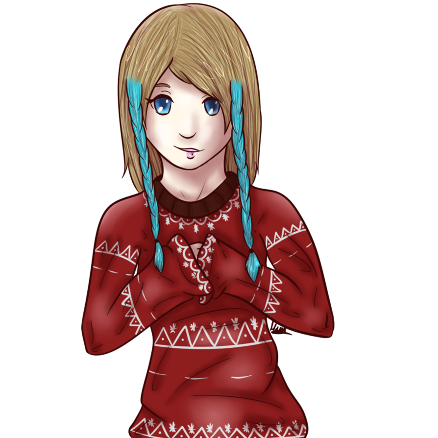 clip art transparent Drawing sweaters female. Christmas sweater maya by