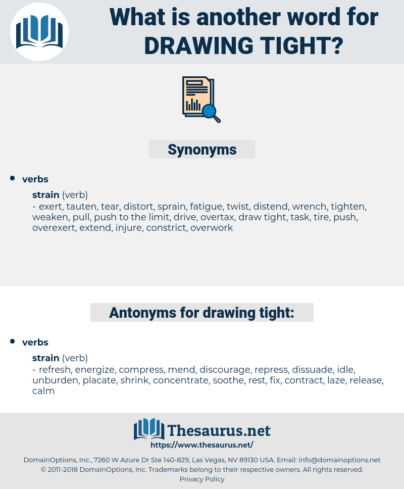 free download For tight antonyms . Drawing synonyms distorted