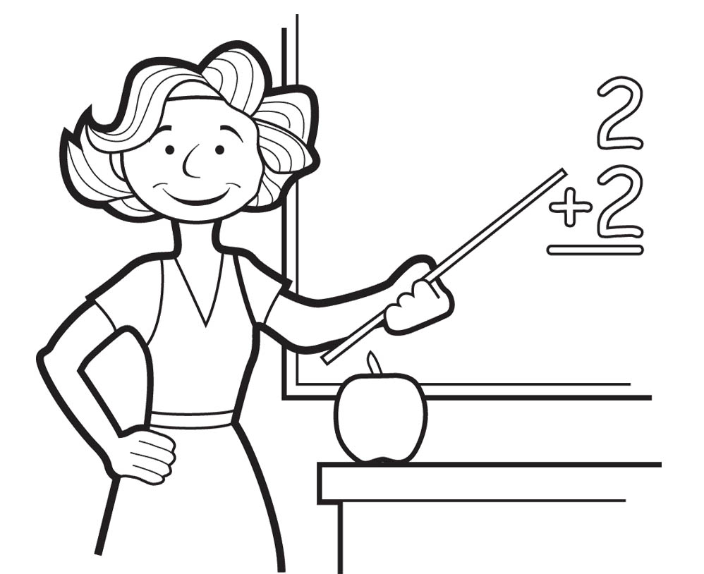 vector royalty free stock For at paintingvalley com. Drawing teacher teaching