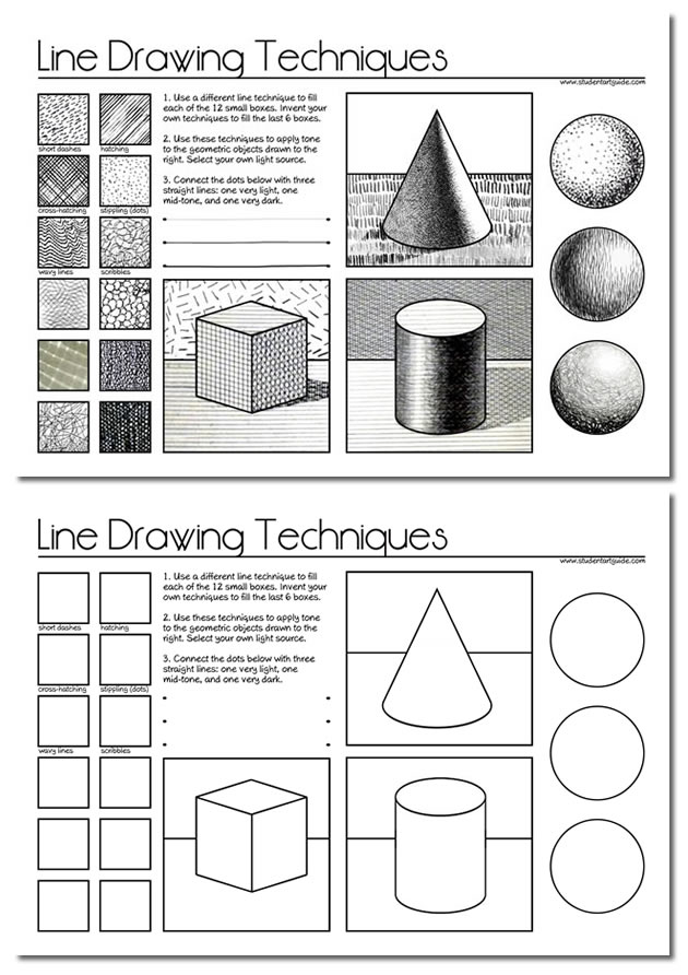graphic free download Line a guide for. Drawing technique basic