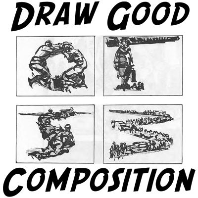 image library library Picture how to draw. Drawing technique composition