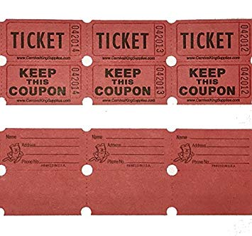 jpg freeuse library Drawing tickets.  red colored raffle