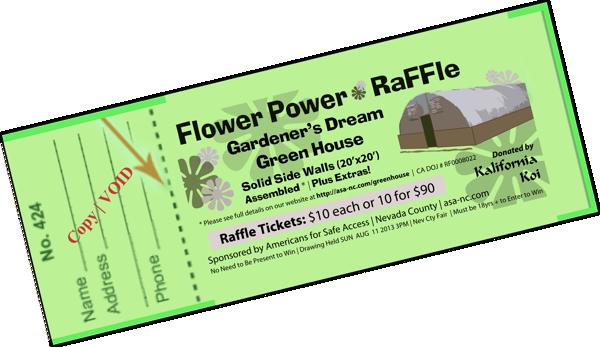 clip art free Flower Power Raffle for Dream Green House