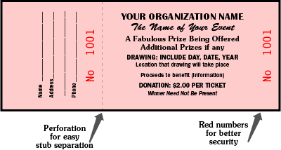 clip free download sample tickets for fundraisers