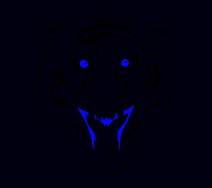 svg free Drawing tiger. White bengal at getdrawings