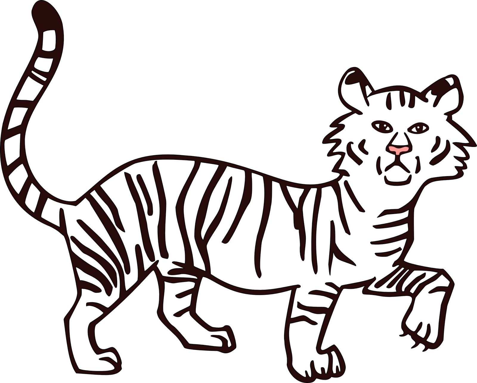 graphic black and white stock Tiger Outline Drawing at GetDrawings