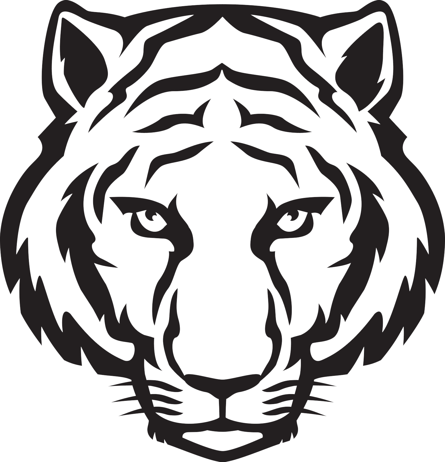 clipart stock Tiger Face PNG Download Image